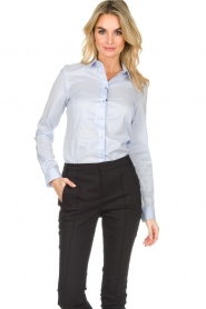 Set |  Classic basic blouse Andy | blue  | Picture 2