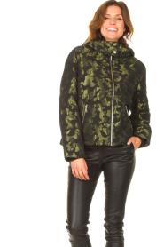 Liu Jo Sport    Jacket with army print Fyn   black    Picture 5
