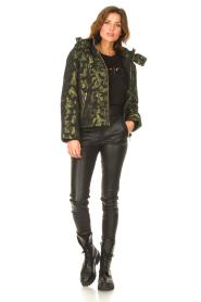 Liu Jo Sport    Jacket with army print Fyn   black    Picture 3