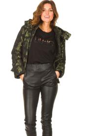 Liu Jo Sport    Jacket with army print Fyn   black    Picture 4