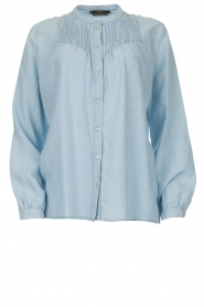 Set |  Blouse with plisse details Laurie | blue  | Picture 1