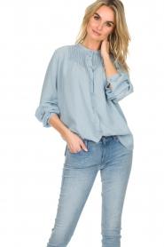 Set |  Blouse with plisse details Laurie | blue  | Picture 2