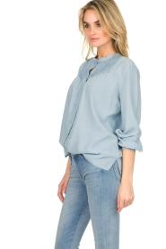 Set |  Blouse with plisse details Laurie | blue  | Picture 4