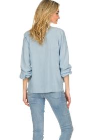 Set |  Blouse with plisse details Laurie | blue  | Picture 5