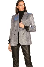 Silvian Heach |  Glitter blazer Changeling | black  | Picture 2