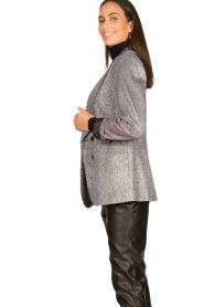 Silvian Heach |  Glitter blazer Changeling | black  | Picture 4