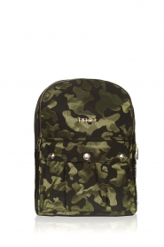 Liu Jo Sport |  Backpack with army print Erica | black  | Picture 1