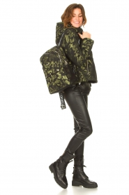 Liu Jo Sport |  Backpack with army print Erica | black  | Picture 2