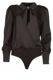 Silvian Heach |  Body blouse Dinosaurus | black  | Picture 1