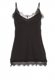 Set |  Sleeveless top with lace Chenna | black  | Picture 1