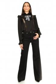 Silvian Heach |  Ruffle blouse Woogie | black  | Picture 3
