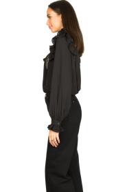 Silvian Heach |  Ruffle blouse Woogie | black  | Picture 4