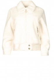 Liu Jo Sport    Short teddy coat Senna   white    Picture 1