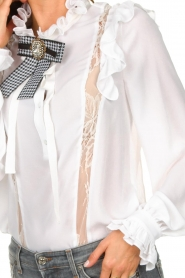 Silvian Heach |  Ruffle blouse Woogie | white  | Picture 8