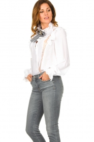 Silvian Heach |  Ruffle blouse Woogie | white  | Picture 5