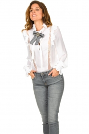 Silvian Heach |  Ruffle blouse Woogie | white  | Picture 4