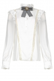Silvian Heach |  Ruffle blouse Woogie | white  | Picture 1