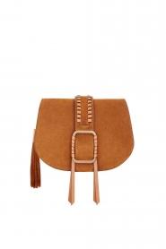ba&sh |  Suede shoulder bag Medium Teddy | cognac  | Picture 1