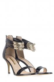 Atos Lombardini | Leren sandalen Scarpa | zwart  | Afbeelding 3