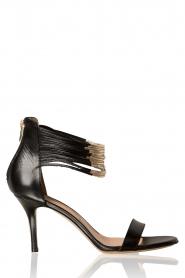 Atos Lombardini | Leren sandalen Scarpa | zwart  | Afbeelding 1