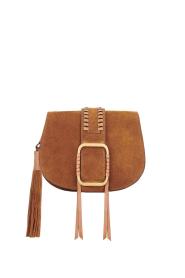 ba&sh |  Suede shoulder bag Small Teddy | cognac  | Picture 1