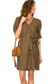 ba&sh |  Suede shoulder bag Small Teddy | cognac  | Picture 2