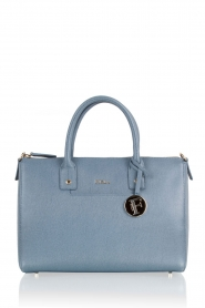 Leather handbag Linda | blue