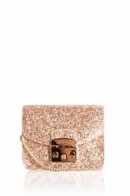 Leather mini bag Metropolis | gold