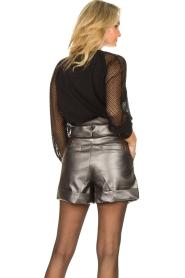 Silvian Heach |  Paperbag shorts Durham | silver  | Picture 6