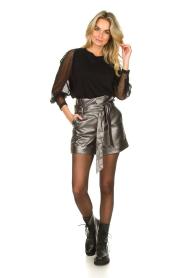 Silvian Heach |  Paperbag shorts Durham | silver  | Picture 4