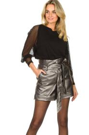 Silvian Heach |  Paperbag shorts Durham | silver  | Picture 2