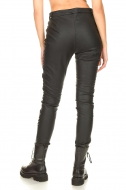 Silvian Heach :  Faux leather pants with studded sides Bexifull | black - img6