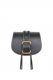 ba&sh |  Leather shoulder bag Small Teddy | black  | Picture 1
