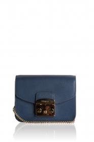 Furla | Leren schoudertas Metropolis Mini | blauw   | Afbeelding 1