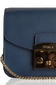 Furla | Leren schoudertas Metropolis Mini | blauw   | Afbeelding 5