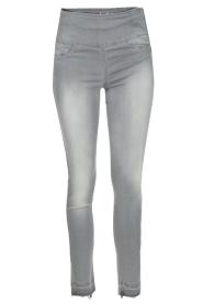 Patrizia Pepe | High waist jeans Sevella | grijs  | Afbeelding 1