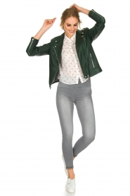 Patrizia Pepe | High waist jeans Sevella | grijs  | Afbeelding 2