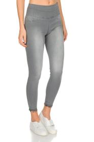 Patrizia Pepe | High waist jeans Sevella | grijs  | Afbeelding 3