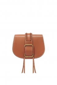 ba&sh |  Leather shoulder bag Small Teddy  | camel  | Picture 1