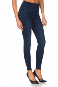 Patrizia Pepe | High waist stretch jeans Sevella | Blauw  | Afbeelding 4