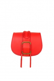 ba&sh |  Leather shoulder bag Small Teddy | red  | Picture 1