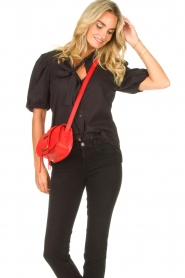 ba&sh |  Leather shoulder bag Small Teddy | red  | Picture 2