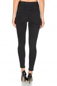 Patrizia Pepe | High waist stretch jeans Sevella | Zwart  | Afbeelding 5
