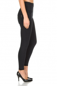 Patrizia Pepe | High waist stretch jeans Sevella | Zwart  | Afbeelding 4