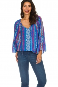 Alice & Trixie |  Printed top Giselle | blue  | Picture 2