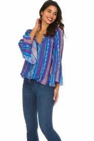 Alice & Trixie |  Printed top Giselle | blue  | Picture 3