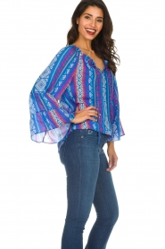 Alice & Trixie |  Printed top Giselle | blue  | Picture 4