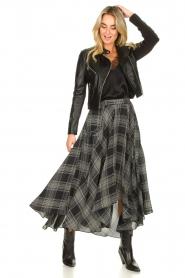 Silvian Heach |  Printed midi skirt Chopper | black  | Picture 2