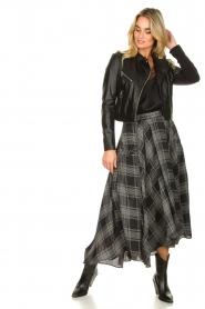 Silvian Heach |  Printed midi skirt Chopper | black  | Picture 4