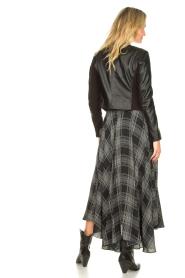 Silvian Heach |  Printed midi skirt Chopper | black  | Picture 6